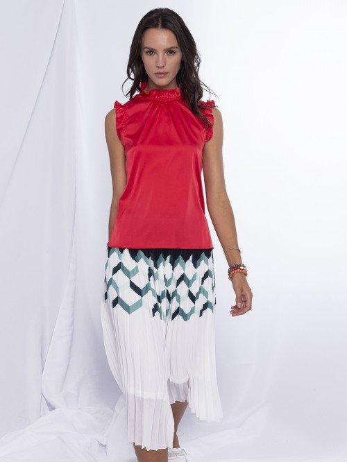 Anonyme Designers Bluse rot