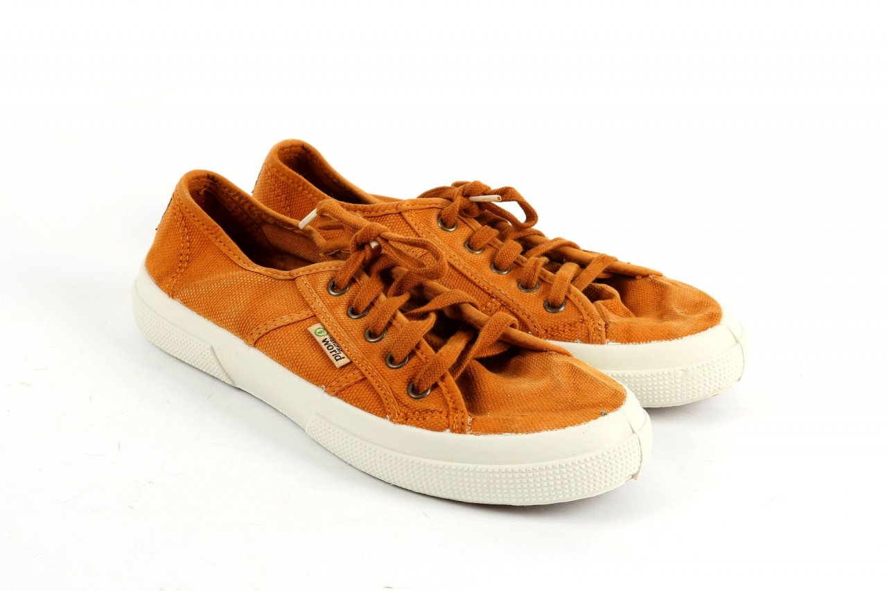 Natural World Damen Sneaker cognac