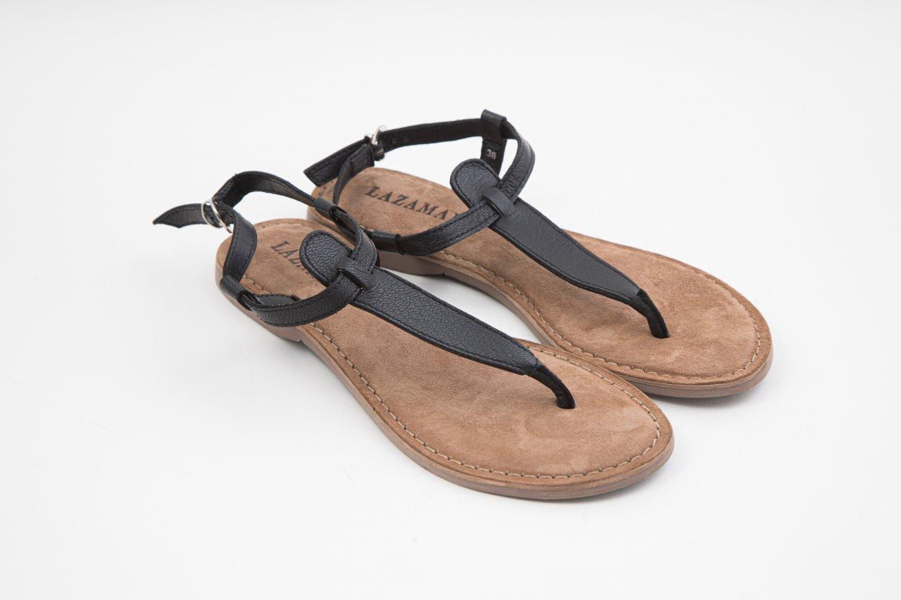 Lazamani Sandalen schwarz
