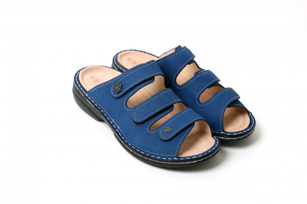 "Finn Comfort Pantoletten ""Menorca-S"" dunkelblau"