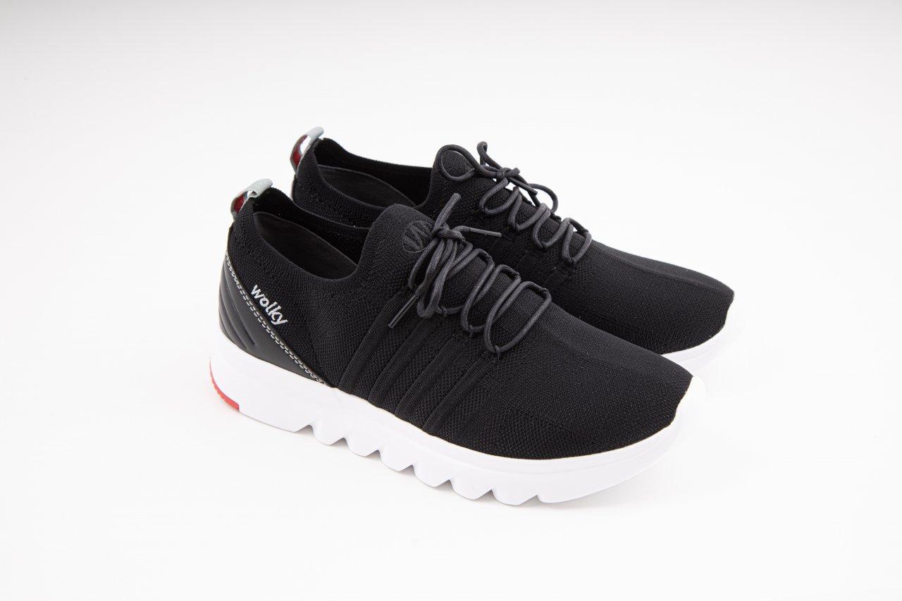 """Wolky Sneakers """"Mako 3-D knitting"""" schwarz"""