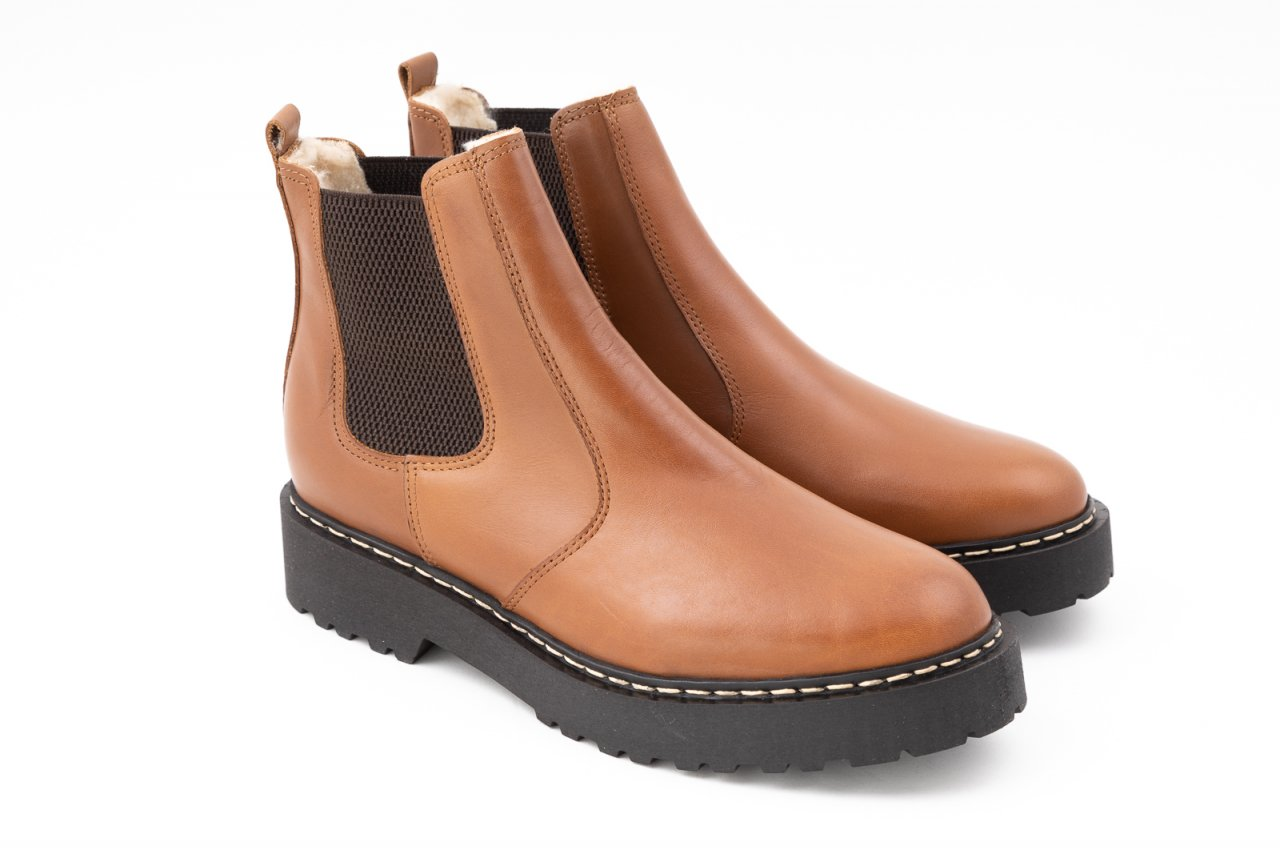 Palpa Chelsea Boots Warmfutter cognac