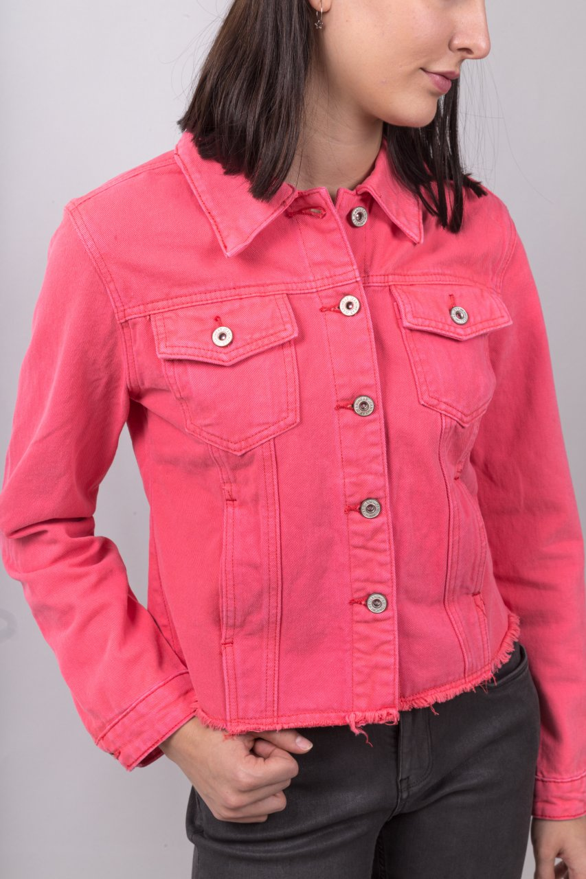 Yours Jeans Jacke koralle