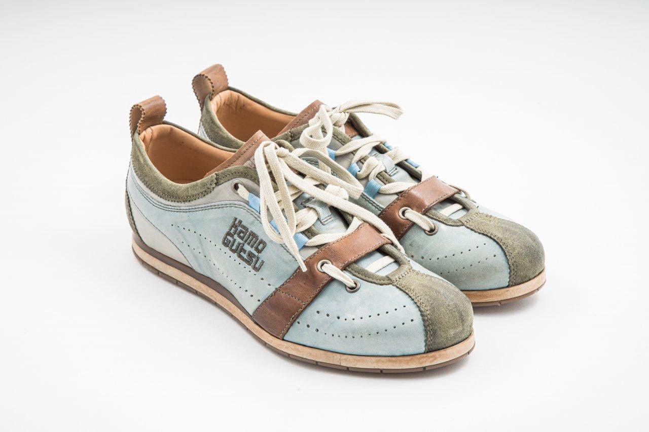 Kamo-Gutsu Sneakers hellblau/khaki