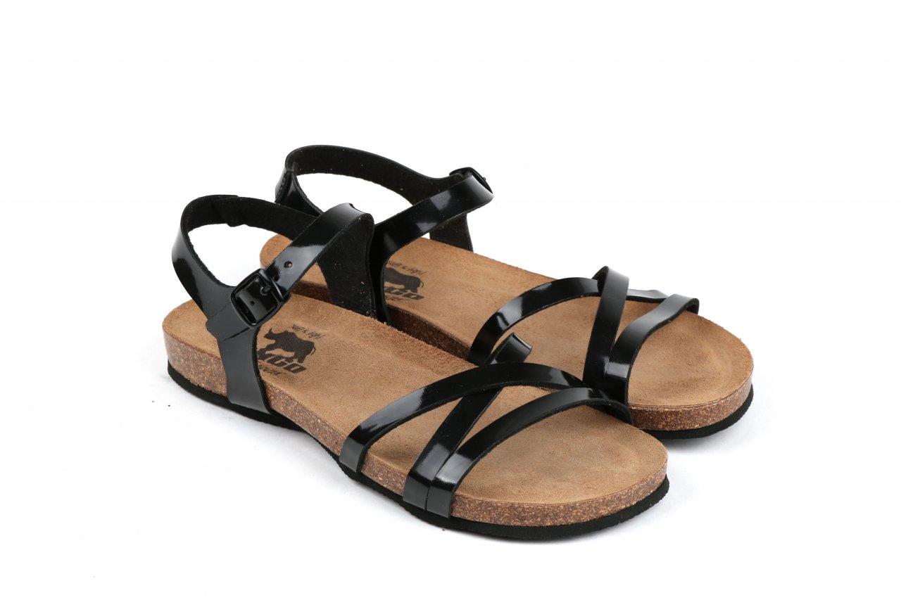 Longo Sandaletten Lackleder schwarz