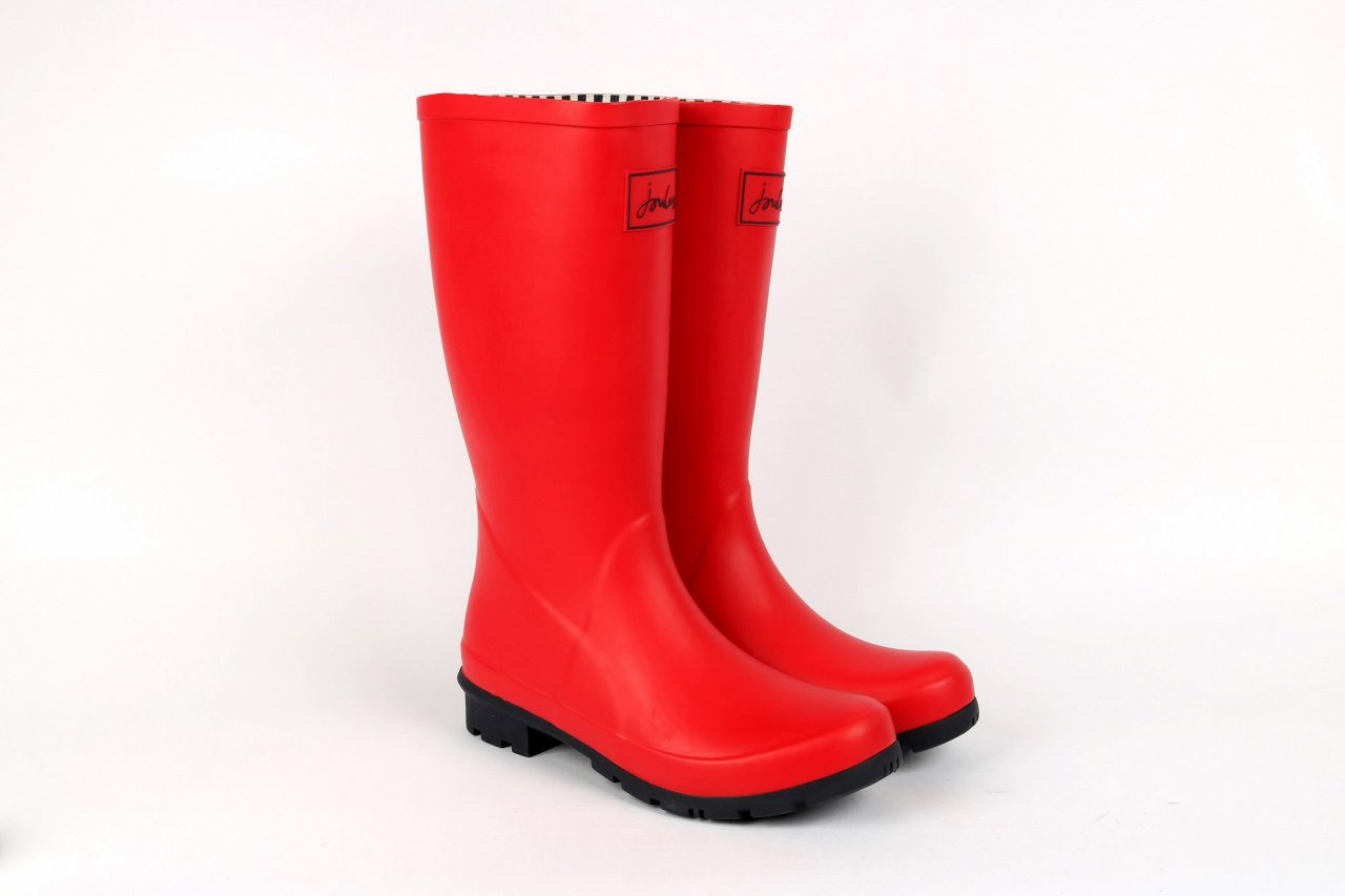 "Joules Gummistiefel ""Roll up Welly"" rot"