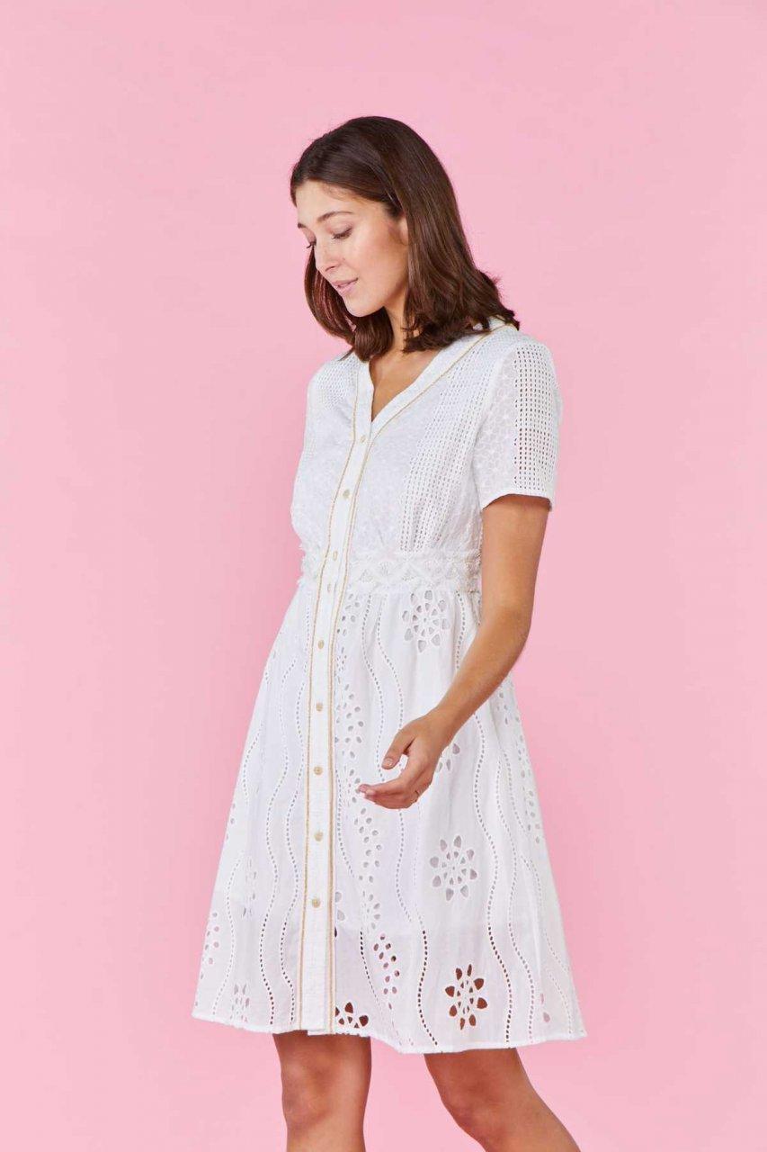 Derhy Kleid RECREATION weiß