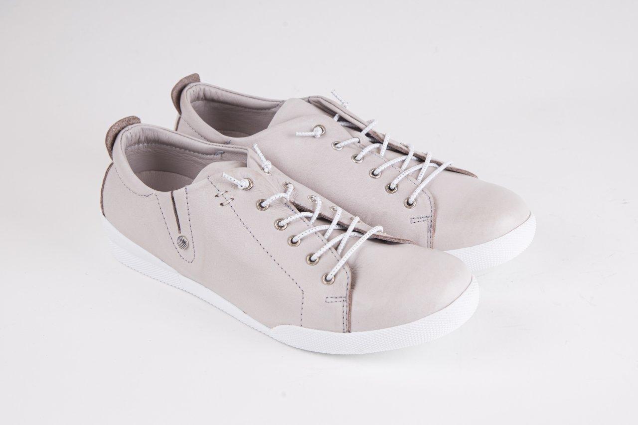Andrea Conti Sneakers silbergrau