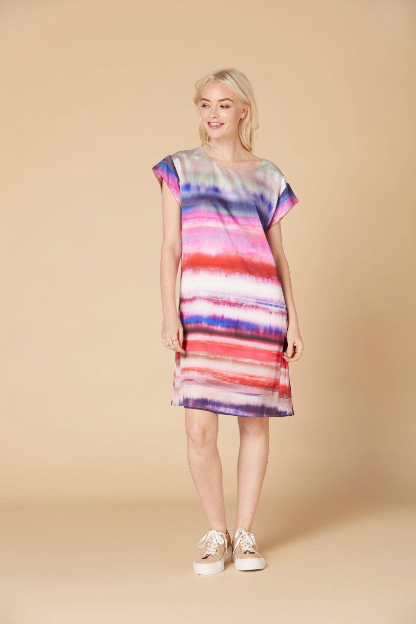 Kleid Derhy fushia Calendaire