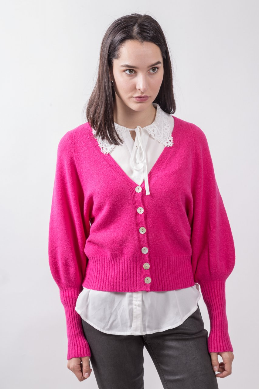 Yours Strickjacke pink