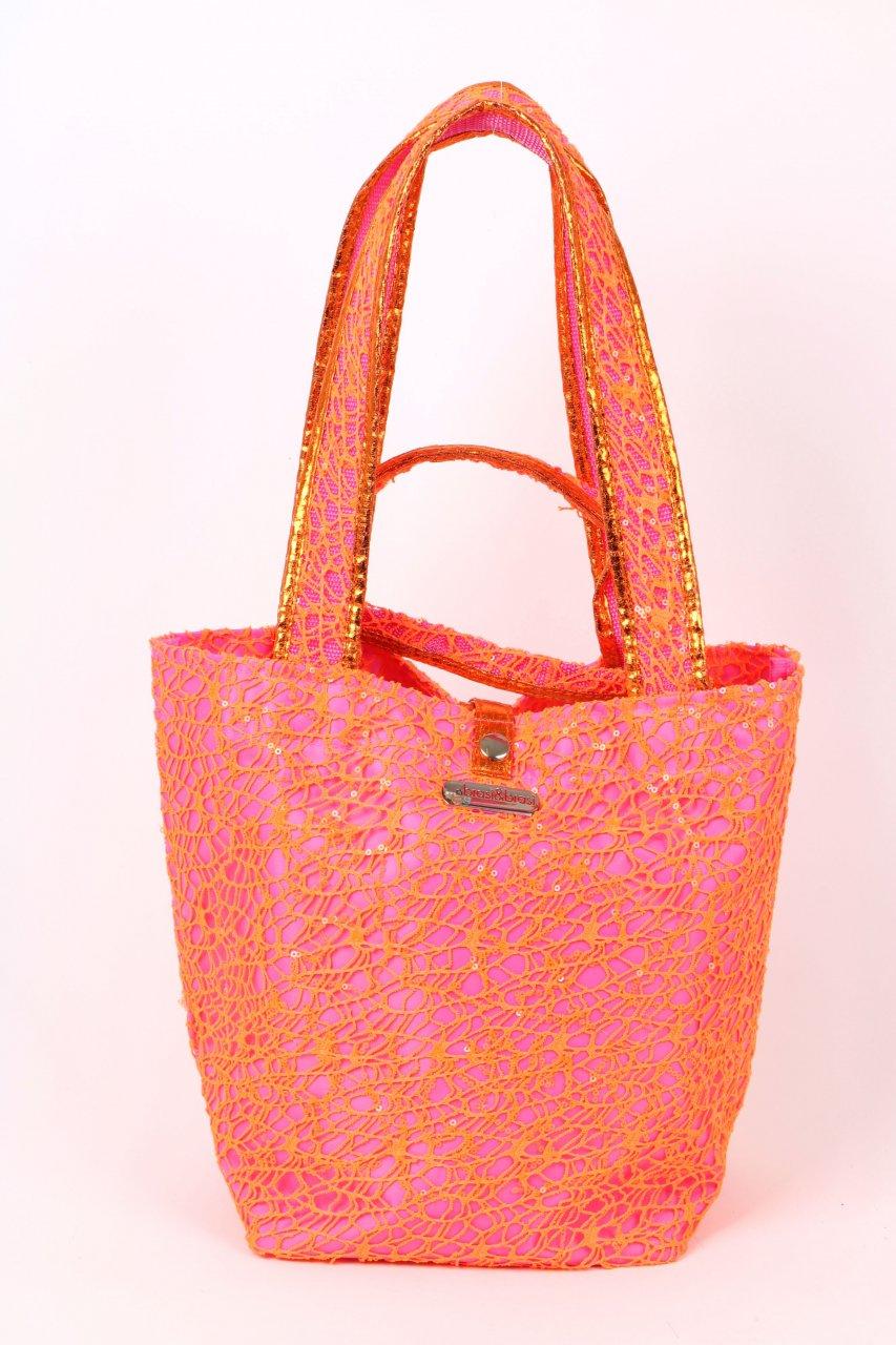 Brasi & Brasi Tasche Shopper pink/neonorange