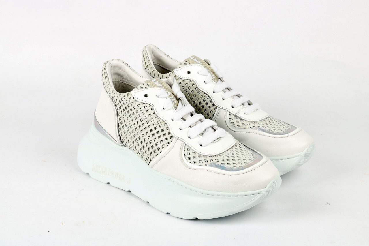 """Andia Fora Sneakers """"Spike1""""; weiß"""
