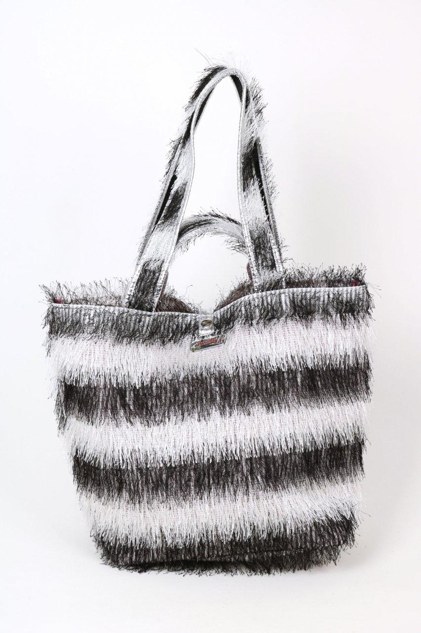 Brasi & Brasi Tasche Shopper schwarz/weiß