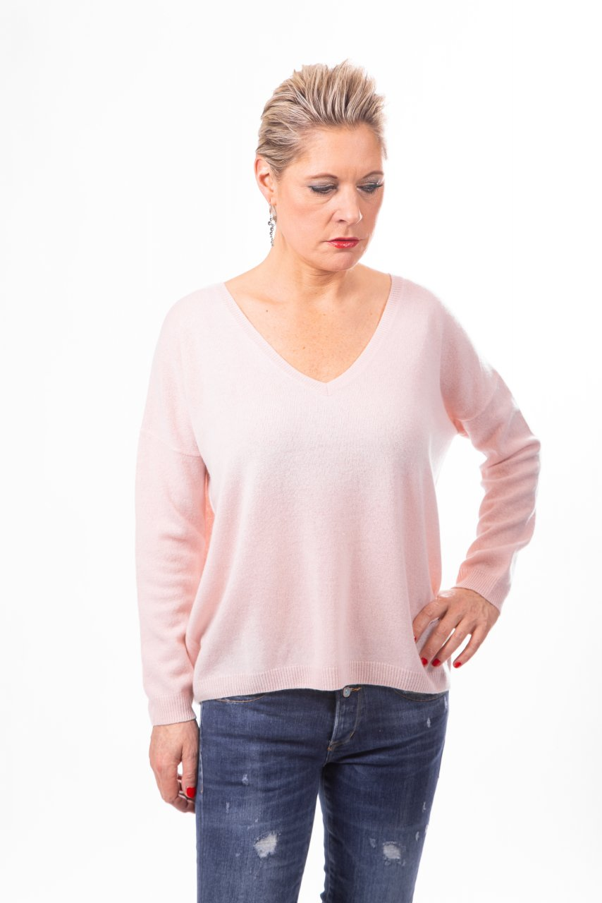 Absolut Cashmere V-Pulli rose