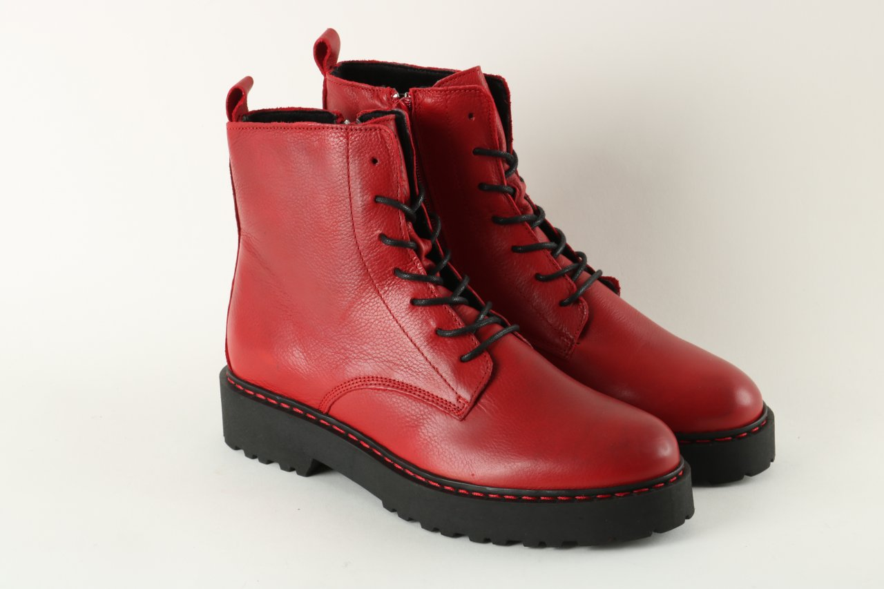 Online Shoes Stiefelette rot