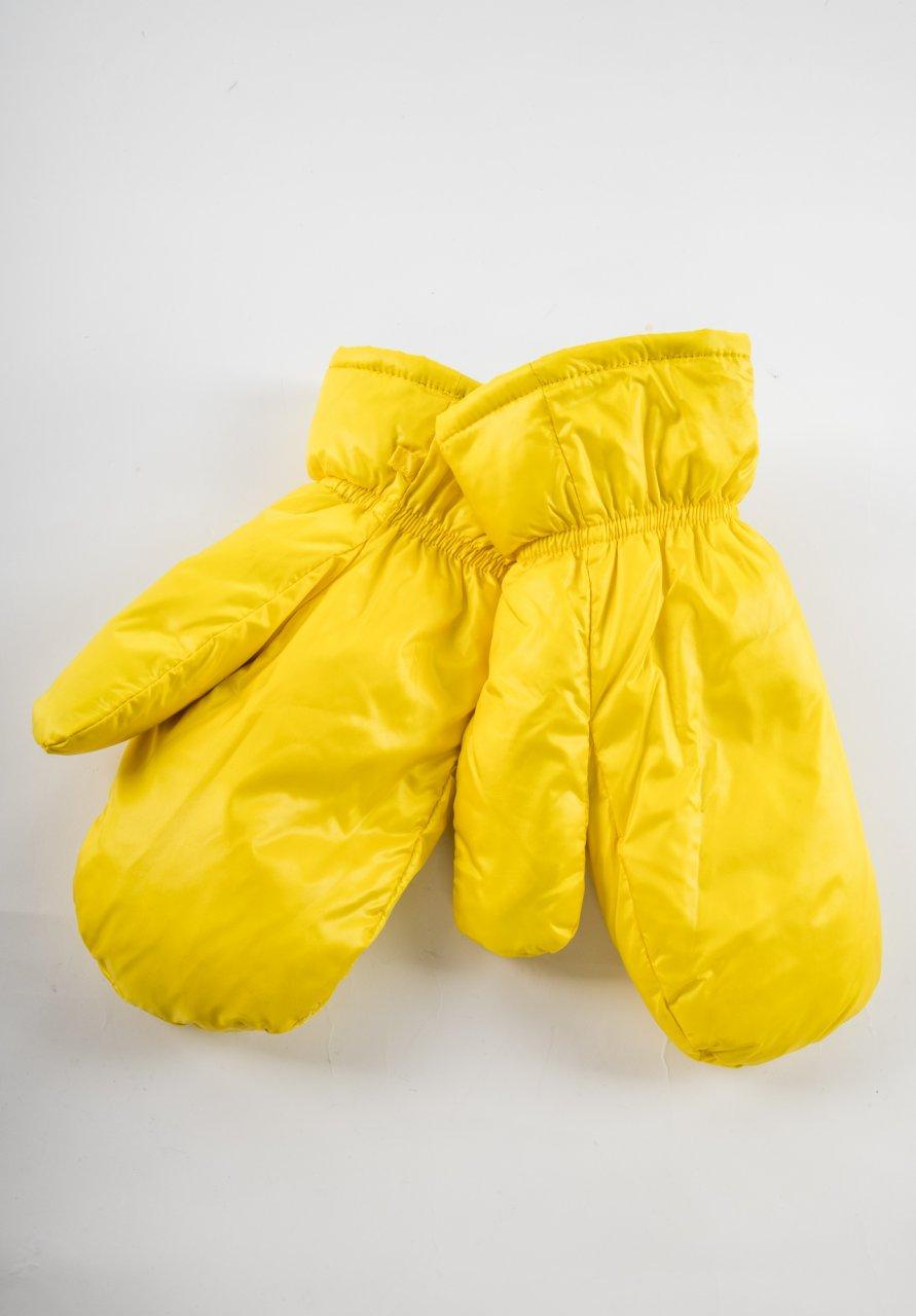 Daunenhandschuhe gelb