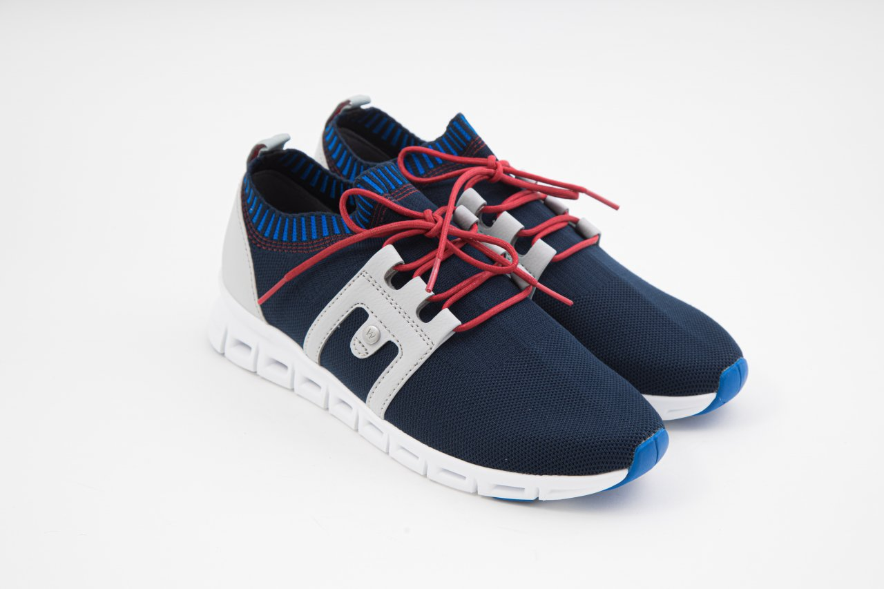 Wolky Sneakers Tera 3-D knitting blau