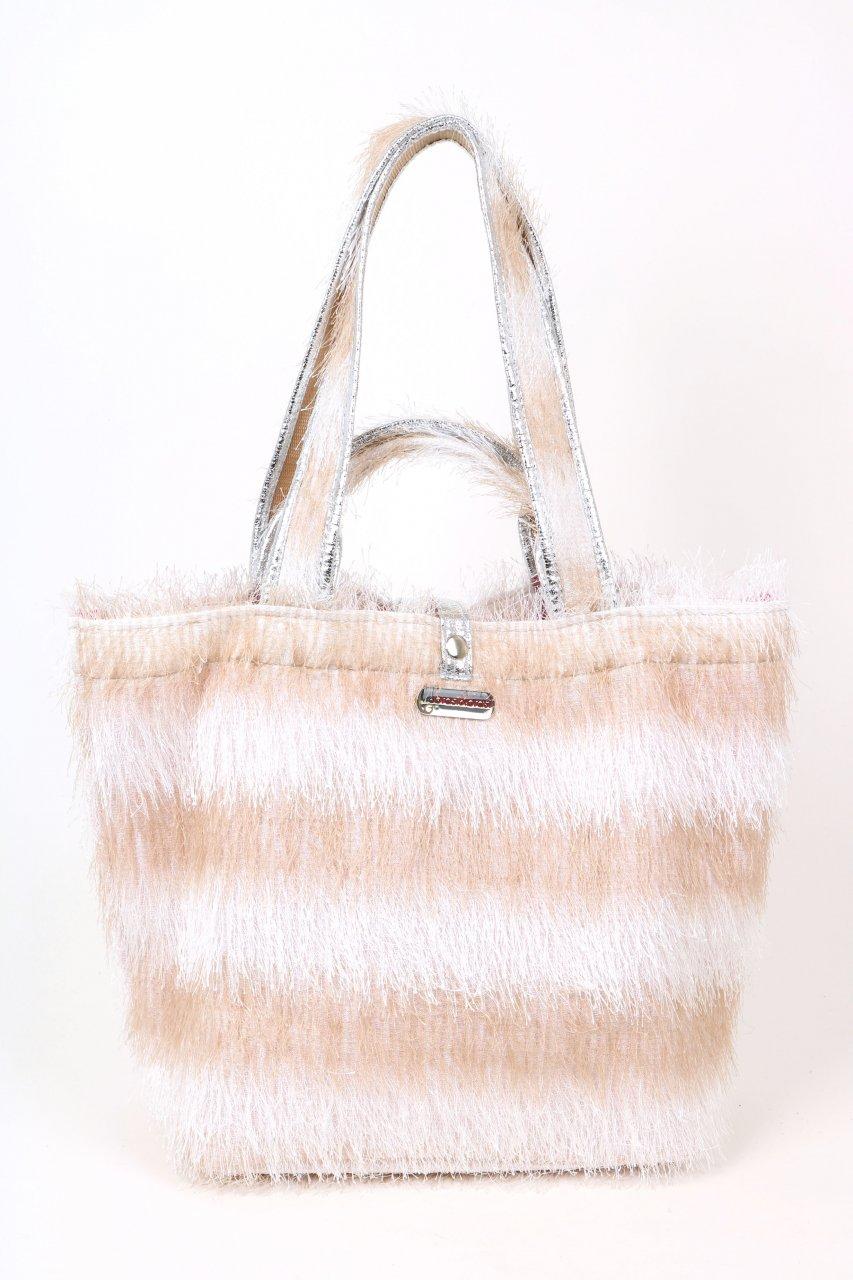 Brasi & Brasi Tasche Shopper beige/weiß