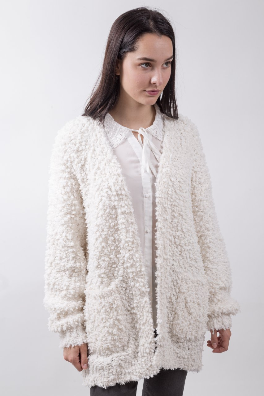 Molly Bracken Strickjacke weiß