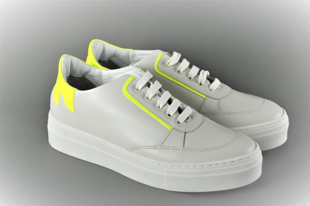 Fiamme Sneaker weiß / neon gelb