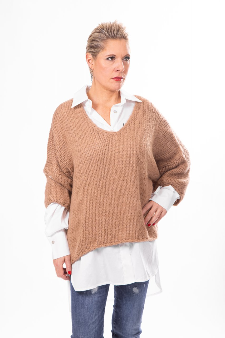 Oversize Pullover lachs