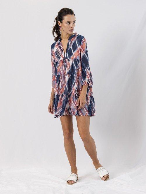 Anonyme Designers Kleid blau